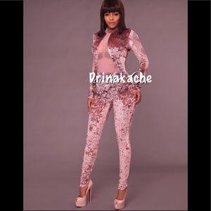 Haley Pink embellished jumpsuit
